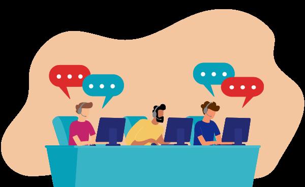 customer helpcenter illustration