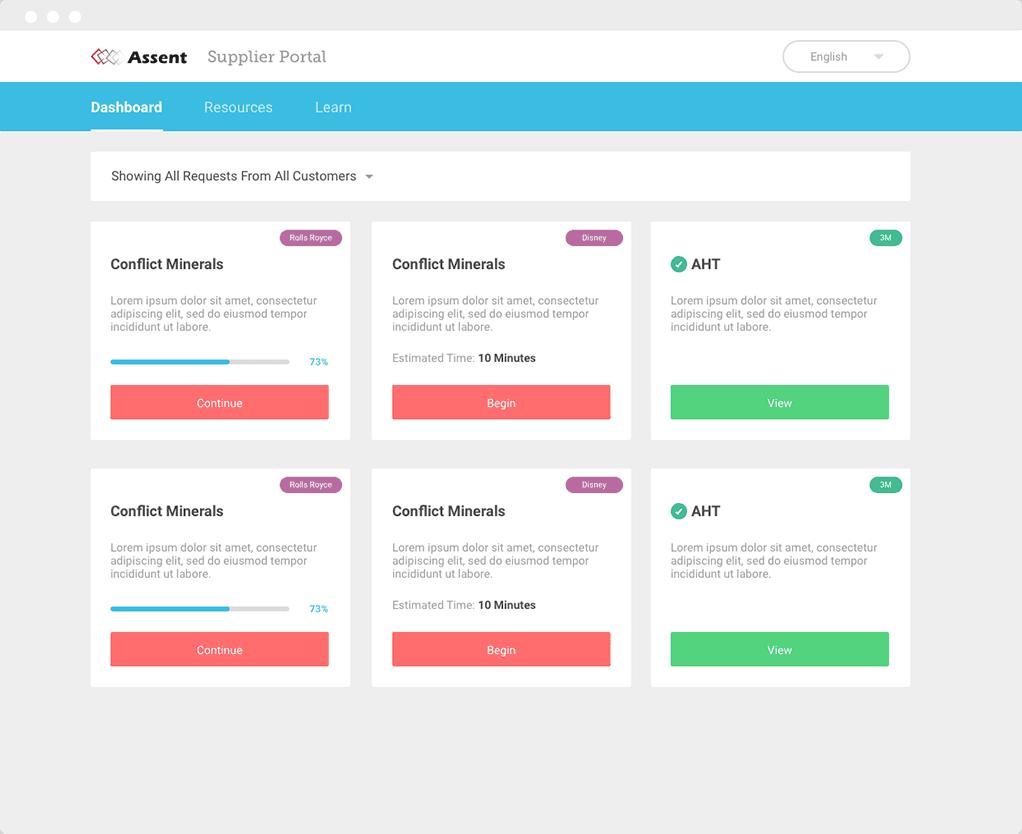 assent-supplier-portal-screenshot